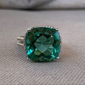 Beautiful sterling blue-green statement ring